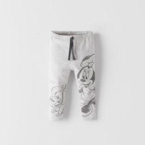 NWT 6-9 month Zara Minnie Mouse leggings